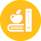 icon of books and apple